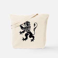 Black Lion Rampant Tote Bag