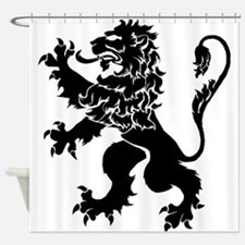 Black Lion Rampant Shower Curtain