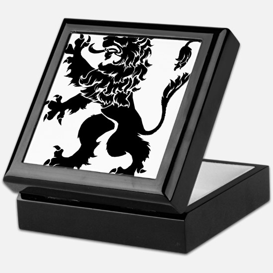Black Lion Rampant Keepsake Box