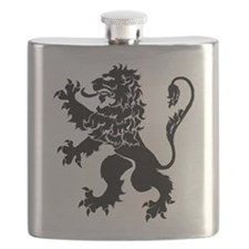 Black Lion Rampant Flask