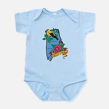 Alabama Map Infant Bodysuit
