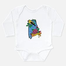 Alabama Map Long Sleeve Infant Bodysuit
