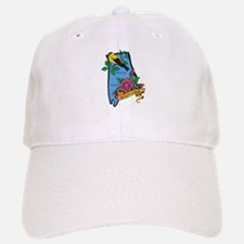 Alabama Map Baseball Baseball Cap