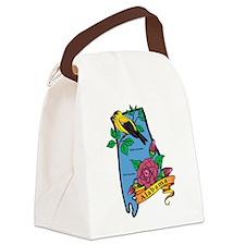 Alabama Map Canvas Lunch Bag
