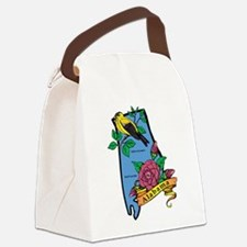 Alabama Map Canvas Lunch Bag
