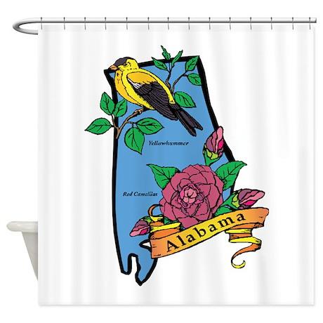 Alabama Map Shower Curtain