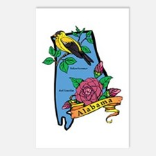 Alabama Map Postcards (Package of 8)