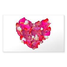 Valentine Heart of Roses Sticker (Rectangle)