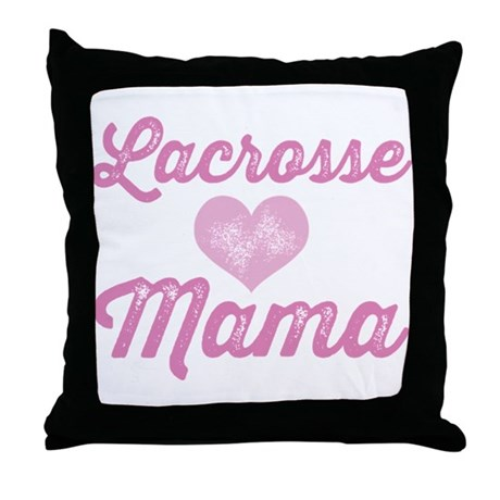 Lacrosse Mama Throw Pillow