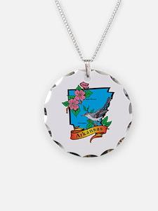 Arkansas Map Necklace
