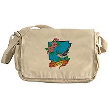 Arkansas Map Messenger Bag