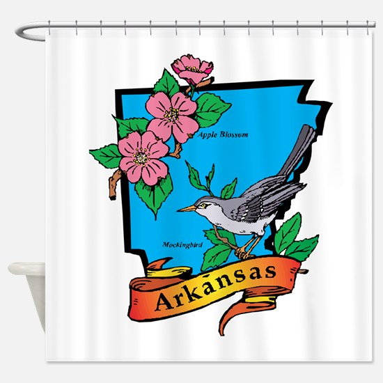 Arkansas Map Shower Curtain
