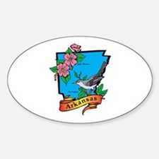 Arkansas Map Sticker (Oval)