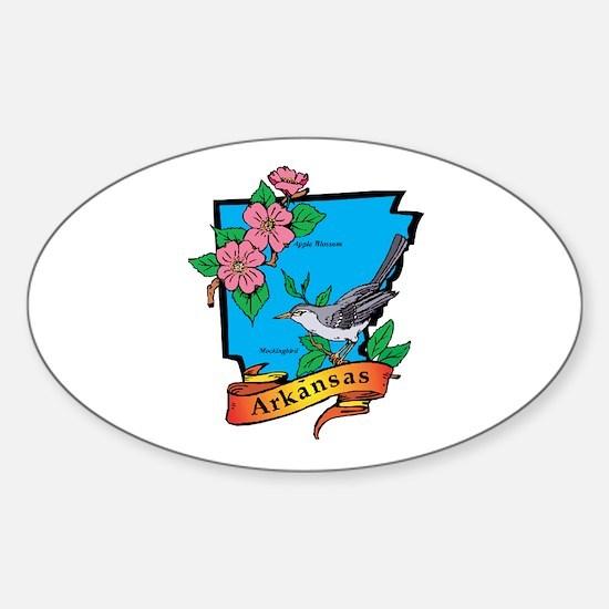 Arkansas Map Sticker (Oval)