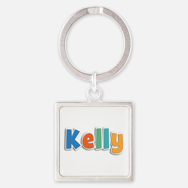 Kelly Spring11B Square Keychain