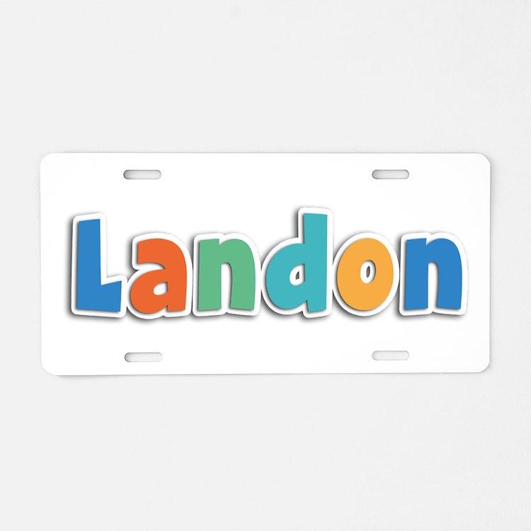 Landon Spring11B Aluminum License Plate