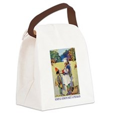 Simple Simon Met A Pieman Canvas Lunch Bag