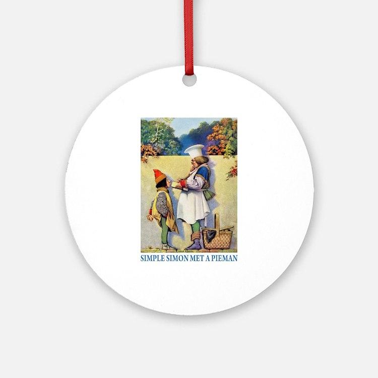 Simple Simon Met a Pieman Ornament (Round)