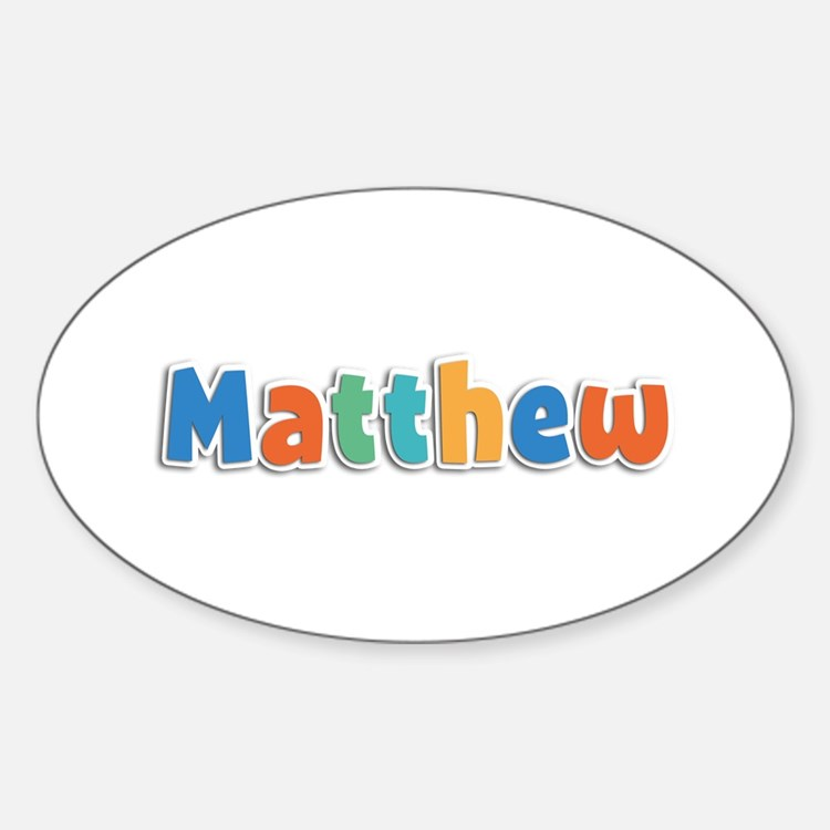 Matthew Spring11B Oval Decal