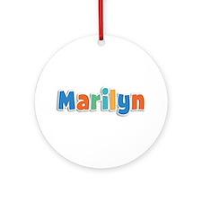 Marilyn Spring11B Round Ornament