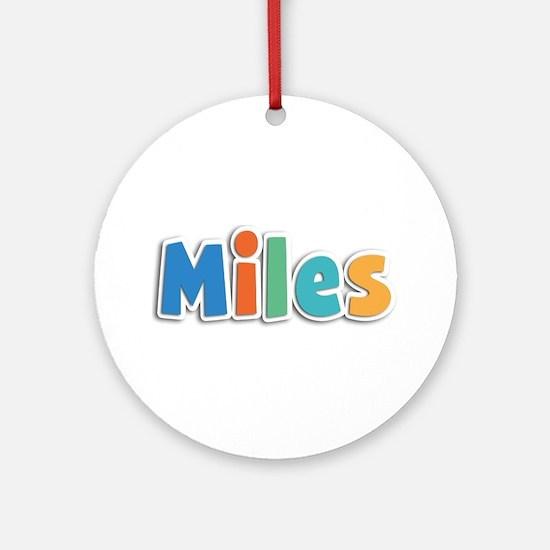Miles Spring11B Round Ornament