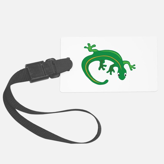 Green Lizard Twist Large Luggage Tag
