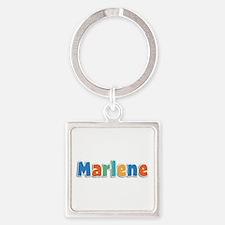 Marlene Spring11B Square Keychain