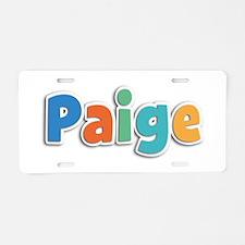 Paige Spring11B Aluminum License Plate