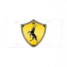 Royal stag sigil Aluminum License Plate