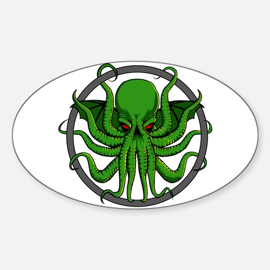 Cthulhu Rising Sticker (Oval)