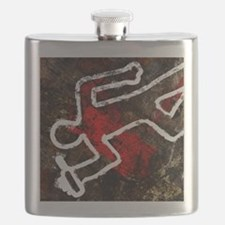 Alcohol related death, conceptual artwork - Flask