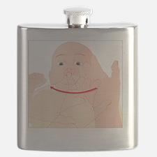 Choking first aid, artwork - Flask