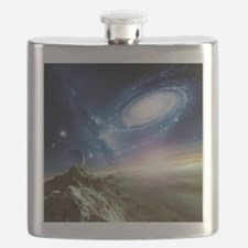 Colliding galaxies, artwork - Flask
