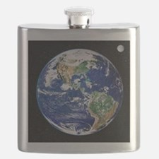 Earth from space, satellite image - Flask