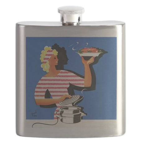 Electric cooker, 1940s artwork - Flask