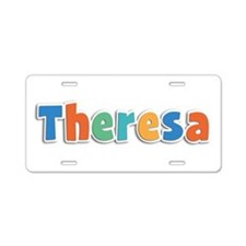 Theresa Spring11B Aluminum License Plate