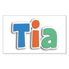Tia Spring11B Rectangle Decal