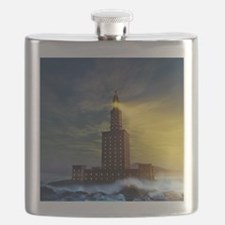 Pharos lighthouse of Alexandria, artwork - Flask