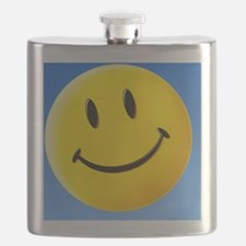 Smiley face symbol - Flask