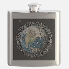 Space junk, conceptual artwork - Flask
