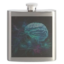 Brain research, conceptual artwork - Flask