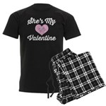 She's My Valentine Men's Dark Pajamas