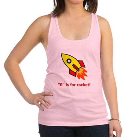 R is for rocket red.png Racerback Tank Top