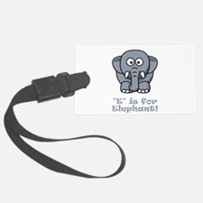 E Is For Elephant Grey.png Luggage Tag