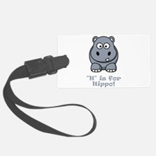 H is for Hippo Grey.png Luggage Tag
