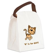 C Is For Cat Brown.png Canvas Lunch Bag