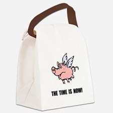 When Pigs Fly Canvas Lunch Bag