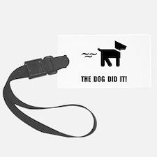 Dog Did It Luggage Tag