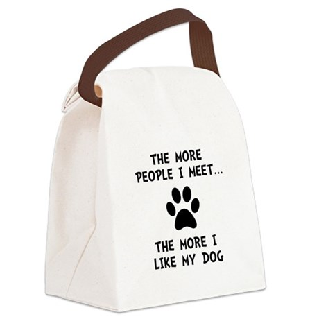 Like My Dog Black.png Canvas Lunch Bag