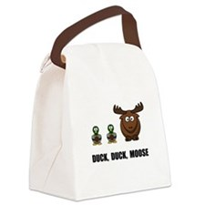 Duck Duck Moose Black.png Canvas Lunch Bag